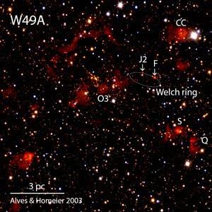 W49A Alves & Homeier 2003